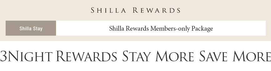 3 Nights - Rewards Stay More, Save More